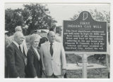 First Indiana Gas Well site marker
