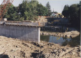 Walnut Street bridge construction