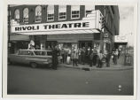 Movie opening at Muncie, Indiana Rivoli Theatre