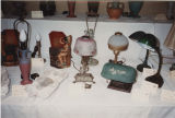National Association of Aladdin Lamp Collectors (NAALC) exhibit display