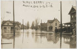 1913 Muncie, Indiana flood, North Mulberry Street