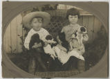 Marguerite Burkey Weaver and unidentified boy