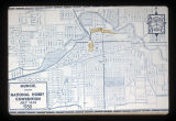 Muncie, Indiana National Hobby Convention map, 1950