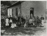 Grandma Watt and students at Mt. Tabor school