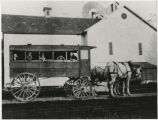 Watt family barn and horse-drawn school bus
