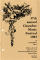 37th Annual Chamber Music Festival, 1983