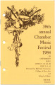 38th Annual Chamber Music Festival, 1984