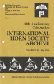 10th anniversary celebration : International Horn Society Archive