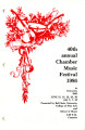 40th Annual Chamber Music Festival, 1986