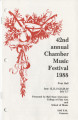 42nd Annual Chamber Music Festival, 1988