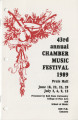 43rd Annual Chamber Music Festival, 1989