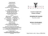 Symphony Band [and] Wind Ensemble