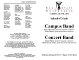 Campus Band [and] Concert Band