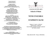 Wind Ensemble [and] Symphony Band