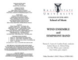Wind Ensemble and Symphony Band