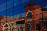 Muncie, Indiana Chase Bank with reflection