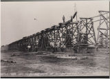 Big 4 Railroad bridge construction over Fall Creek