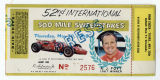 52nd International 500 Mile Sweepstakes press ticket