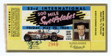 53rd International 500 Mile Sweepstakes press ticket
