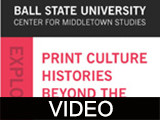 "Print Culture Histories Beyond the Metropolis: Session 2, ""The Development of American Print..."