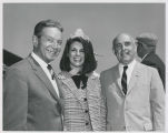 Tony Hulman, Marcie Littlejohn, 500 Festival Queen, and James Bere, Borg-Warner Corporation...