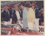 A. J. Foyt and crew