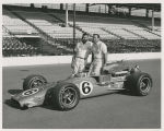 A. J. Foyt and crew member