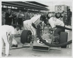A. J. Foyt and crew conducting pit practice