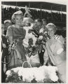 Lucy Foyt, A. J. Foyt, and Diane Hunt in victory lane with Borg-Warner trophy