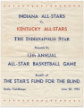 Indiana All-Stars vs. Kentucky All-Stars basketball program, 1953-06-20