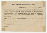 Desoto Detective Company Application for Membership