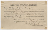 Horse Thief Detective's Commission, Francis M. Pittenger appointment certificate