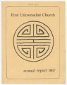 First Universalist Church annual report, 1966-1967