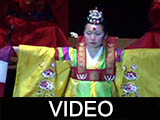 Korean traditional dancers and orchestra performance