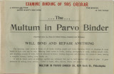 Advertisement from Multum in Parvo Binder Co. to R. A. Wilson