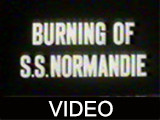 Burning of S.S. Normandie