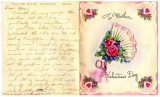 Joseph M. Fisher letter 1943-02-06 with Valentine card