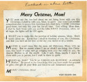 Military Christmas note
