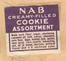 NAB cookie label