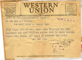 Joseph M. Fisher telegram 1944-03-06