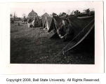 Joseph M. Fisher in pup tent near Rodewisch, Germany