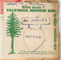 California Redwood pin