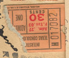 Texas theatre ticket stub
