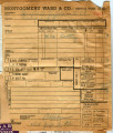 Montgomery Ward (San Louis Obispo, California) receipt