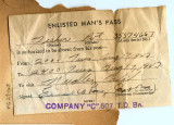 Army visit pass to Needles, California