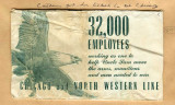 Chicago and North Western Line train ticket envelope