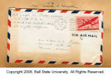 Joseph M. Fisher letter envelope 1943-06-14  o