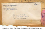 Joseph M. Fisher letter envelope 1943?