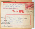 Joseph M. Fisher letter 1944-08-25 envelope Only