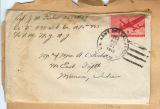 Joseph M. Fisher letter envelope 1945-08-31